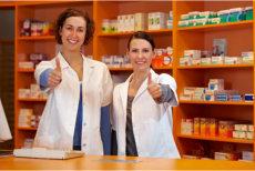staff at drug store